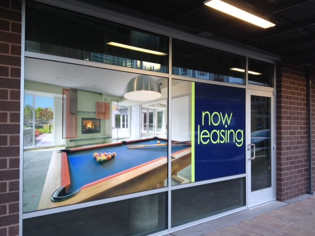 Riverpark Now leasing Window Graphics
